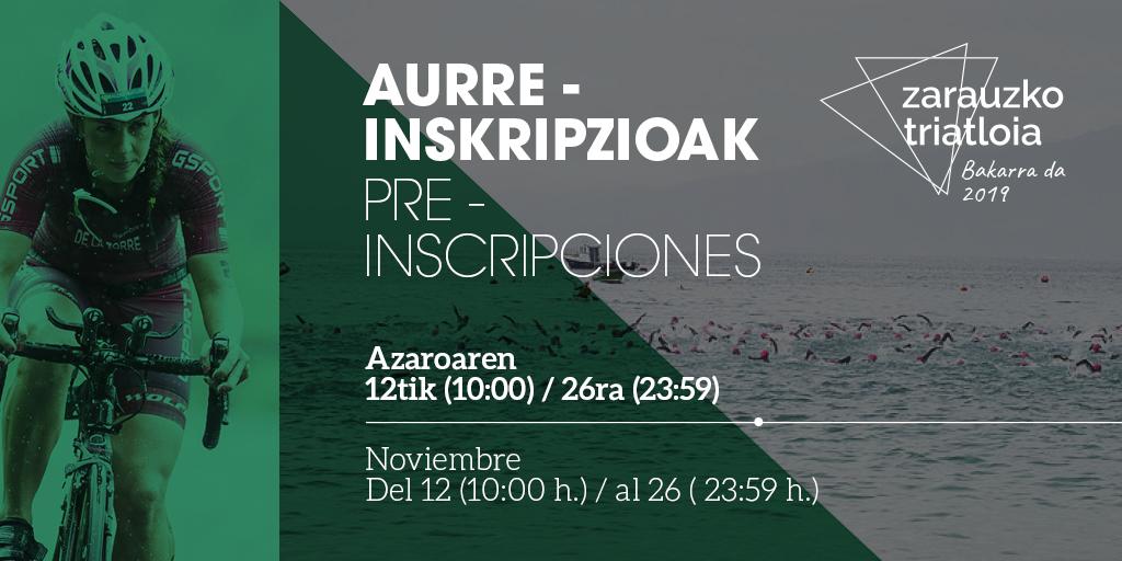LA XXXIII EDICIÓN DEL ZARAUZKO TRIATLOIA ABRE PLAZO DE PREINSCRIPCIONES