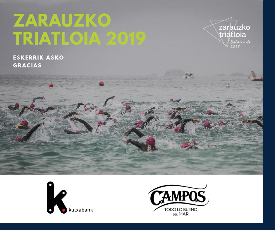 Kutxabank And Campos Sponsors Of Zarauzko Triatloia One More Year