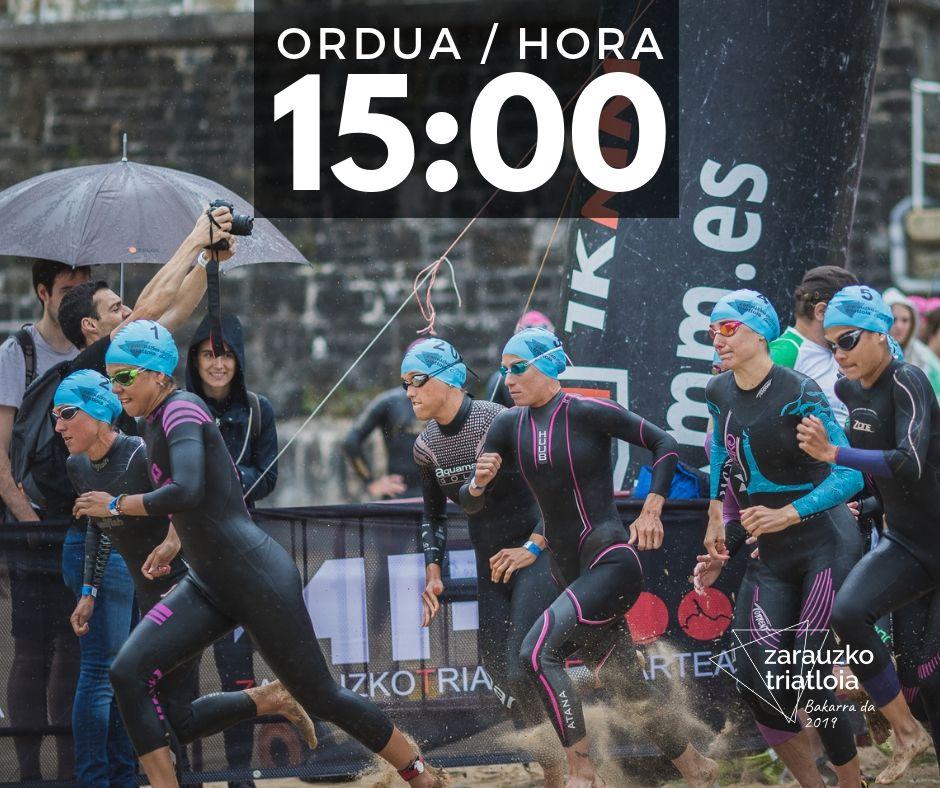 Zarauzko Triatloia 2019, Hora De Salida: 15:00